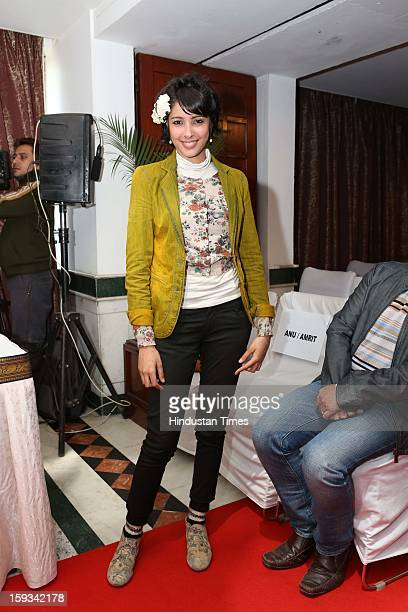 Indian fashion designer Nida Mahmood during curtain raiser in the capital, on the upcoming North East Fashion Fest 2013 to be held in Guwahati, at...
