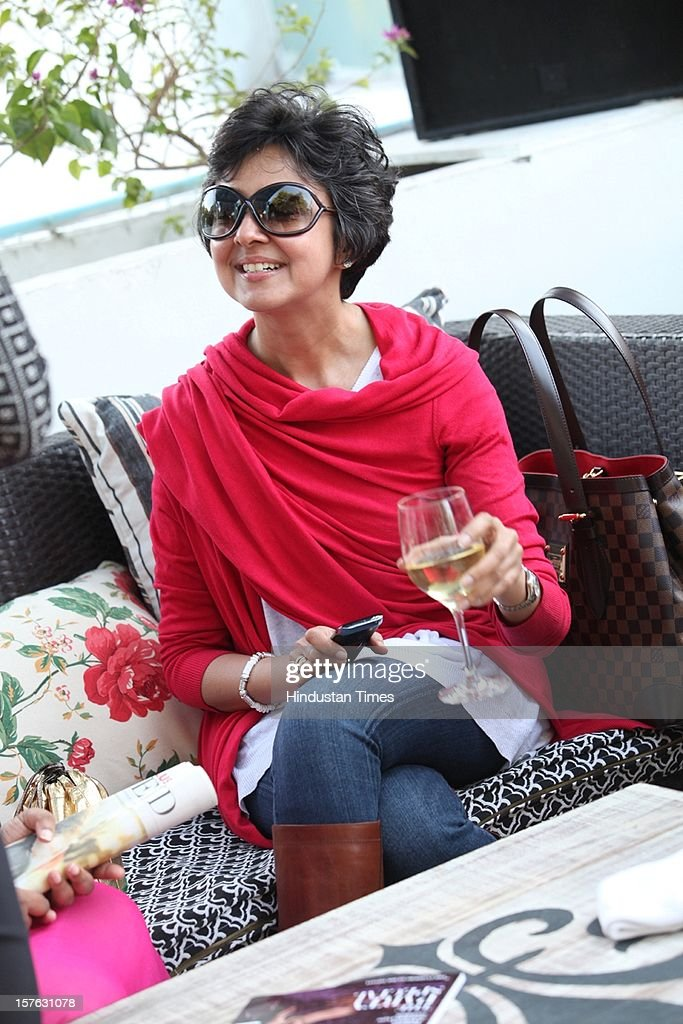 Indian fashion designer Payal Jain attending the party thrown by the fashion glossy Harper's Bazaar at Dirty Martini, Olive Bar & Kitchen on December 1, 2012 in New Delhi, India.