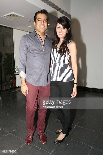 Indian fashion designer Rahul Khanna during an opening of a photography exhibition Travelogue A solo black and white photographic exhibition by Amira...