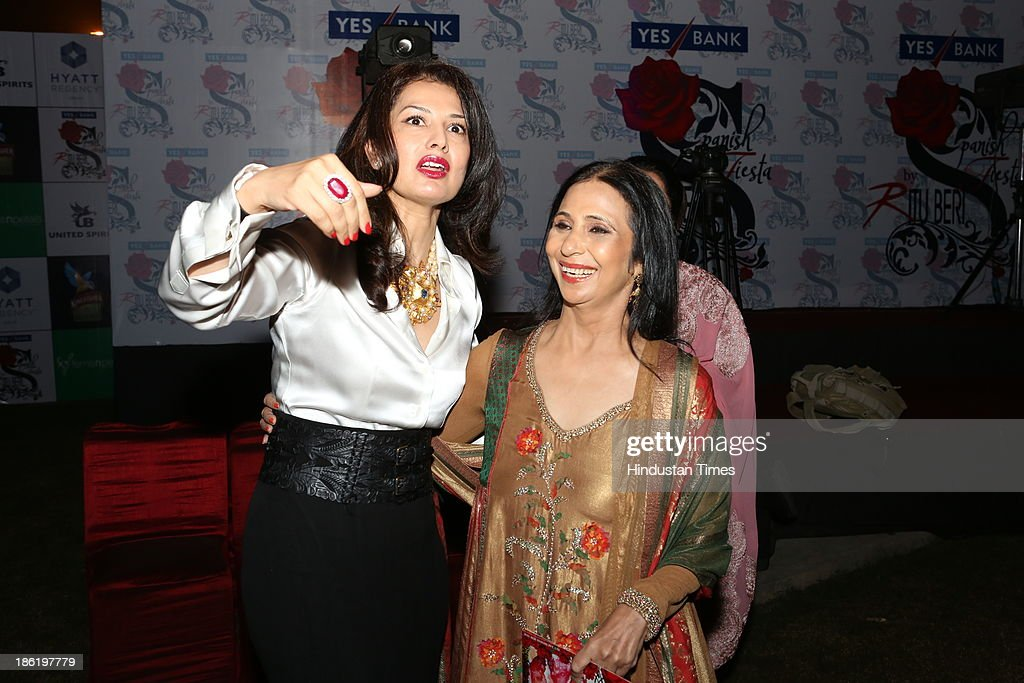 Indian Fashion Designers Ritu Beri And Leena Singh During Spanish News Photo Getty Images