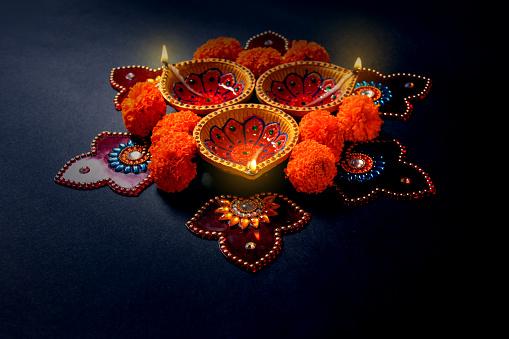 Indian festival diwali lamp 1050133002