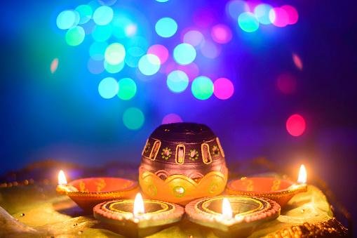 Indian Festival Diwali Oil Lamp Decoration 519915331
