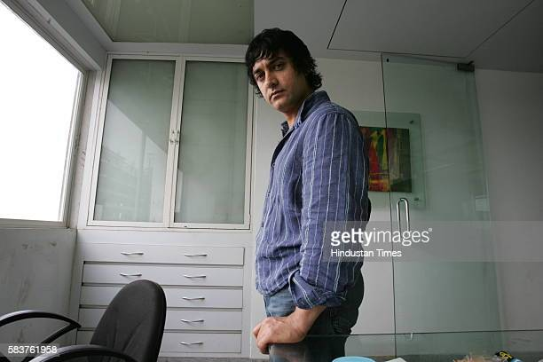 Indian film actor Aamir Khan at his office