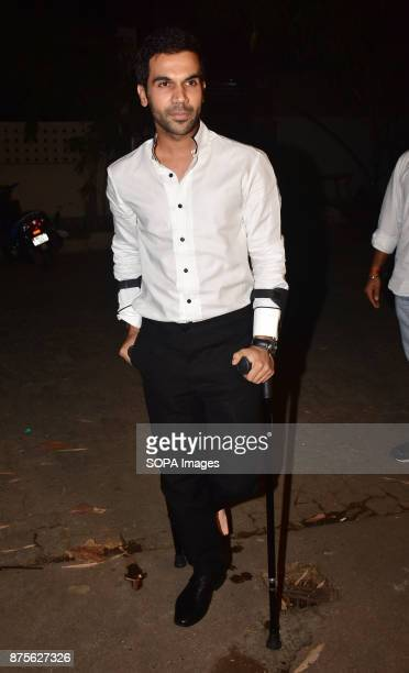 Indian film actor Rajkumar Rao attend the special screening of Web series Bose Dead/Alive at Sunny sound studio Juhu in Mumbai