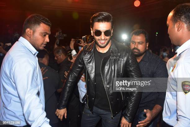 Indian film actor Ranveer Singh seen arriving as he launches Carreras global campaign #DriveYourStory in Mumbai
