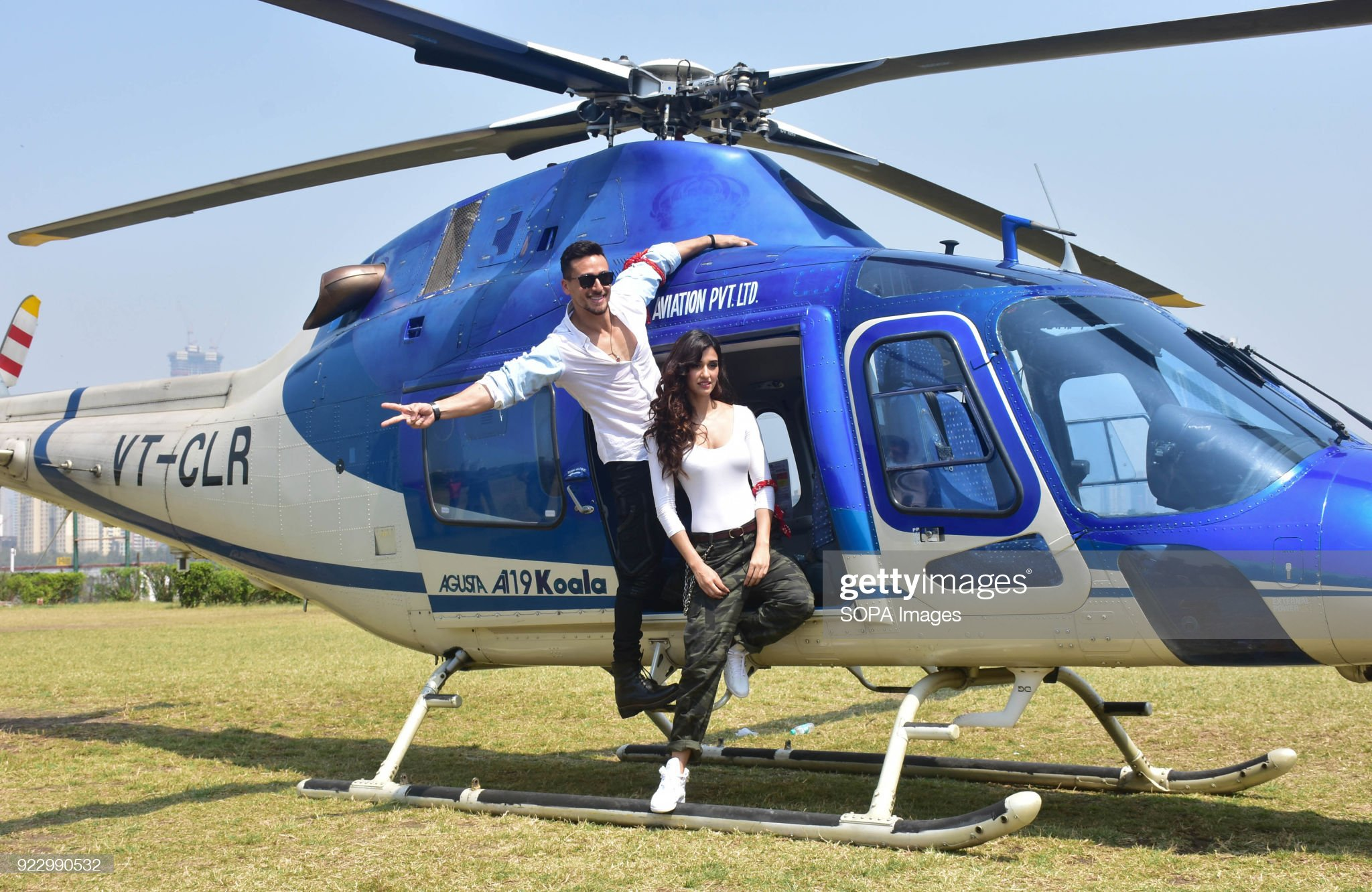 indian-film-actor-tiger-shroff-and-actress-disha-patani-take-an-ride-picture-id922990532