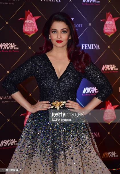 Indian film actress Aishwarya Rai attend the Red carpet event of '4th Edition of Nykaa Femina Beauty Awards 2018' at hotel JW Marriott Juhu in Mumbai