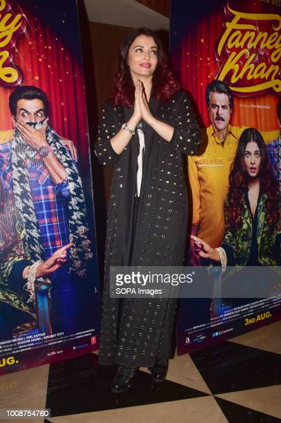 Indian film actress Aishwarya Rai Bachchan attend the special screening of film 'Fanney Khan' at PVR cinema Juhu in Mumbai