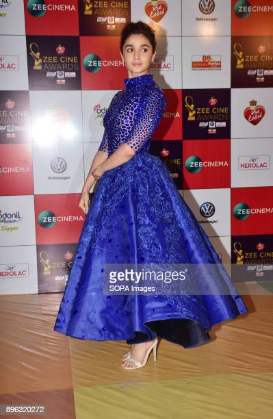 Indian film actress Alia Bhatt attend the Red carpet event of Zee Cine Awards 2018 at MMRDA Ground Bandra in Mumbai