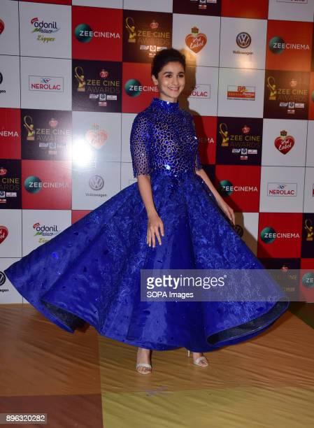 Indian film actress Alia Bhatt attend the Red carpet event of Zee Cine Awards 2018 at MMRDA Ground Bandra in Mumbai