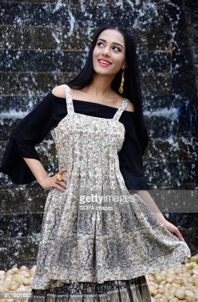 Indian film actress Amrita Rao seen during photo shoot for the casual wear brand Flowery at Madh Island in Mumbai
