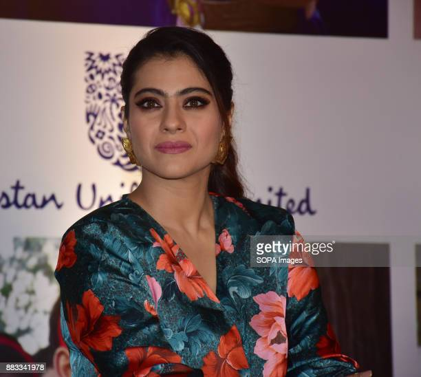 Indian film actress and Lifebuoy Handwashing Ambassador 'Kajol' join hands with Lifebuoy's help a child reach 5 campaign launch in Mumbai at Hotel St...