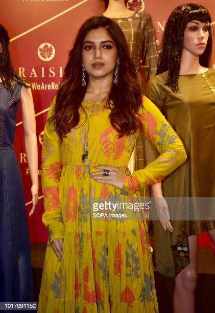 Indian film actress Bhumi Pednekar present at the brand launch of Raisin Contemporary Fusion Wear for Women AW collection18 at hotel JW Marriott Juhu...