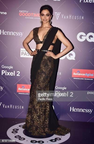 Indian film actress Deepika Padukone present at VanHeusen GQ Fashion Nights fashion show at hotel Taj Lands Ends in Mumbai