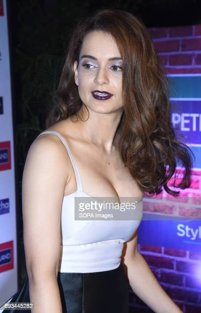 Indian Film actress Kangana Ranaut attend the green carpet event of Mr India 2017 Grand Finale at Bandra fort in Mumbai