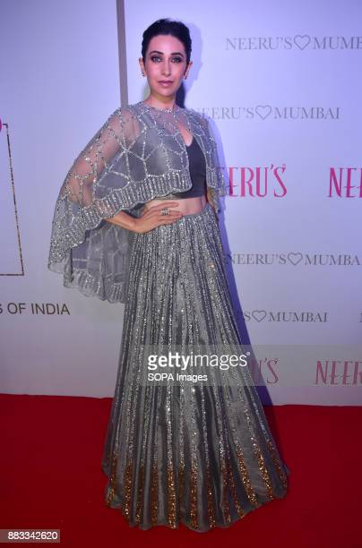 Indian film actress Karishma Kapoor attend the Popular ethnic brand Neeru's an exclusive showcase of the 1000 Signature Studio launches in Mumbai
