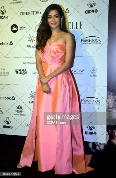 Indian film actress Mithila Palkar attend the ELLE India Beauty Awards 2018 at hotel Taj Lands End in Mumbai