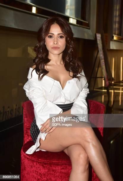 Indian film actress Nushrat Bharucha seen at the upcoming film 'Sonu ke Titu ki Sweety' trailer launch event at PVR Juhu in Mumbai