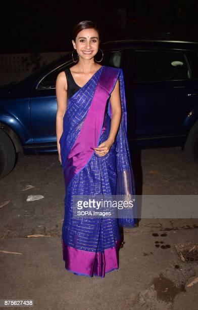 Indian film actress Patralekha attend the special screening of Web series Bose Dead/Alive at Sunny sound studio Juhu in Mumbai