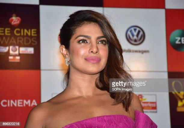 Indian film actress Priyanka Chopra attend the Red carpet event of Zee Cine Awards 2018 at MMRDA Ground Bandra in Mumbai