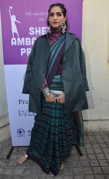 Indian film actress Sonam Kapoor seen during the event PVR NEST host a Pretty Powerful Padman Awards at the grand finale of Shes Ambassador Program...