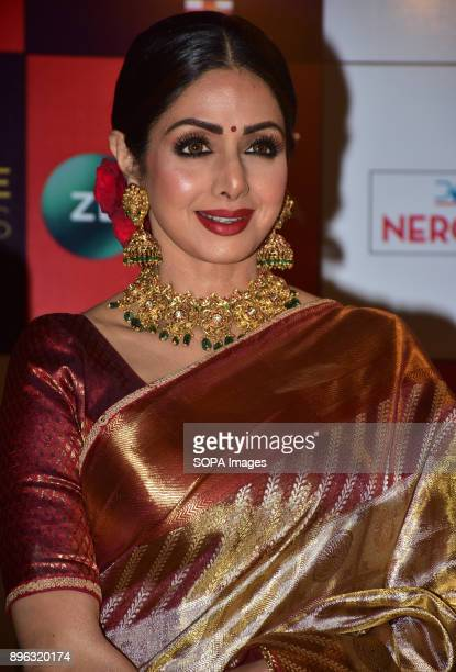 Indian film actress Sridevi attend the Red carpet event of Zee Cine Awards 2018 at MMRDA Ground Bandra in Mumbai