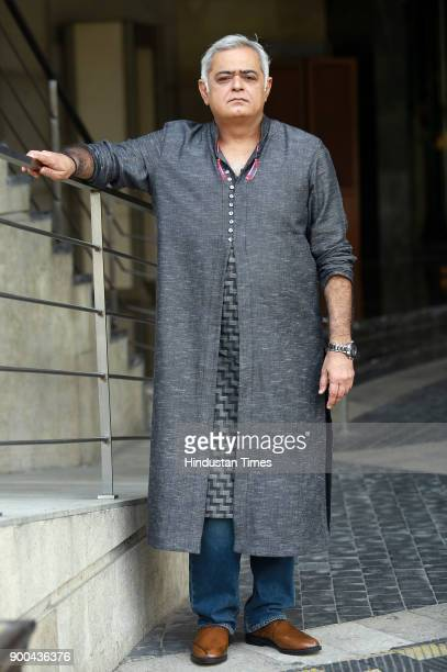Indian film director Hansal Mehta during the promotion of his upcoming web series ' Bose Dead Or Alive' at Taj Palace Hotel on November 15 2017 in...