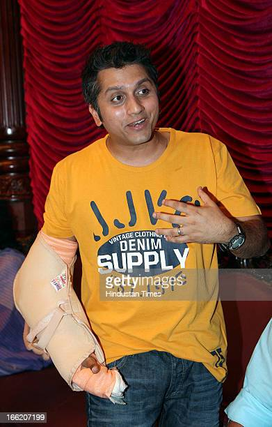 Indian film director Mohit Suri at Music launch of bollywood movie Aashiqui 2 on April 8 2013 in Mumbai India