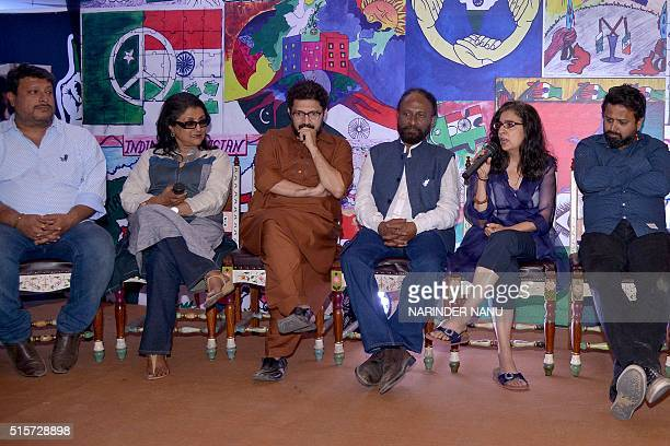 Indian film directors Nikkhil Advani Ketan Mehta Aparna Sen and Tigmanshu Dhulia and Pakistani film directors Sabiha Sumar and Farjad Nabi speak on...
