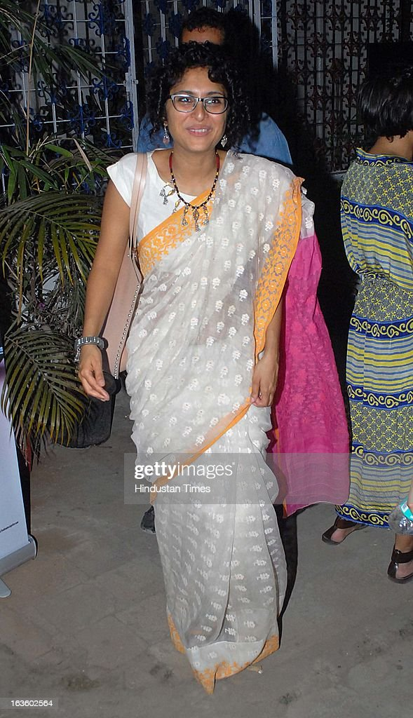 Indian film maker Kiran Rao at Special preview of Otlo Design project hosted by Belvedere Vodka at Bhavishyavani Backyard, Bandra on March 11, 2013 in Mumbai, India.