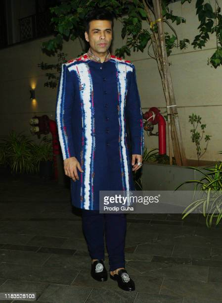 Indian film producer Karan Johar attend the Diwali Bash hosted by Actor Jackky Bhagnani on October 25, 2019 in Mumbai, India.