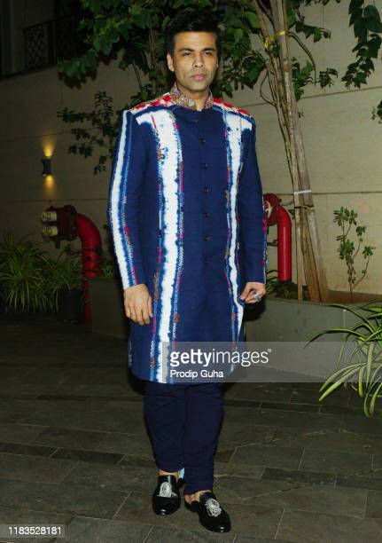 Indian film producer Karan Johar attend the Diwali Bash hosted by Actor Jackky Bhagnani on October 25 2019 in Mumbai India