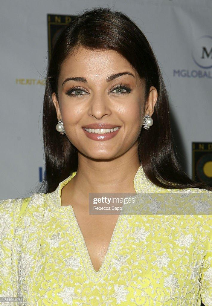 Indian film star Aishwarya Rai arrives at the `Guru` screening during India Splendor at The Hammer in Westwood California on August 14 2007