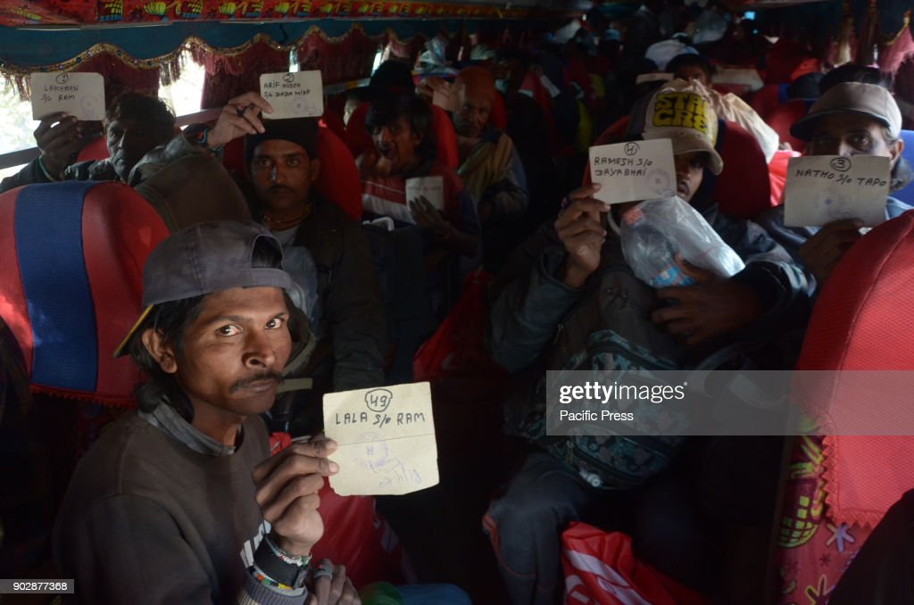 Indian fishermen arrive at a railway station after being released from a jail in Karachi as gesture of goodwill and queue to board into buses on the..