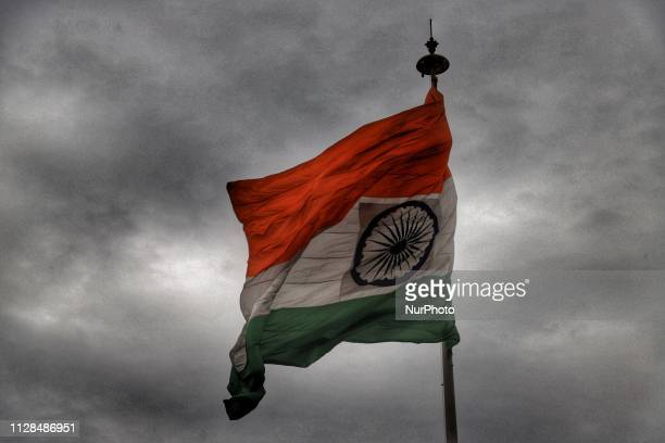 Indian Flag is seen at Central Park, Connaught Place in New Delhi, India, on 3 March 2019.