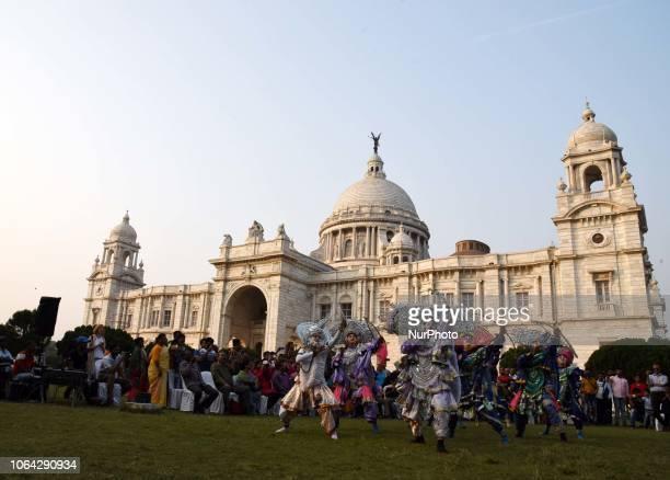 Indian flock artist perform at the World Heritage Week celebration at Victoria memorial on November 22 2018 in Kolkata India