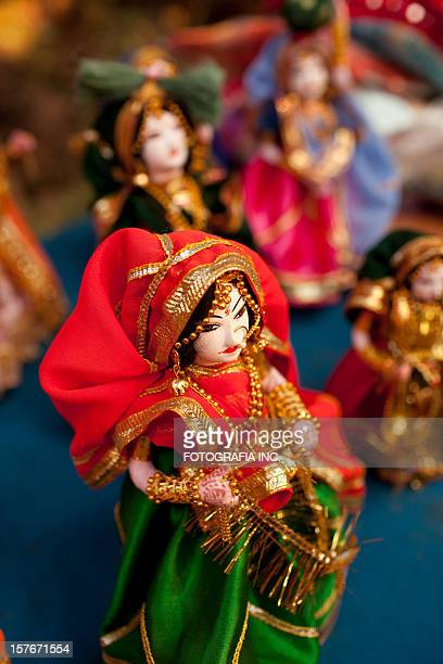 indian folk dolls - dolly golden stock pictures, royalty-free photos & images