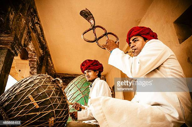 indian folk music - indian music stock photos and pictures