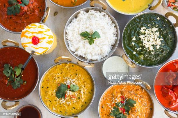 indian food background. - indian food stock pictures, royalty-free photos & images