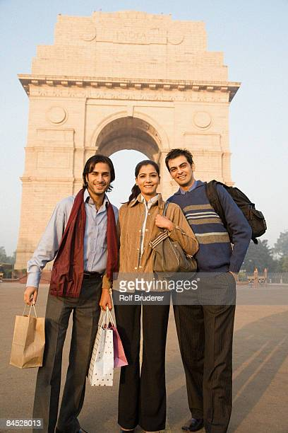 Indian friends visiting the India Gate