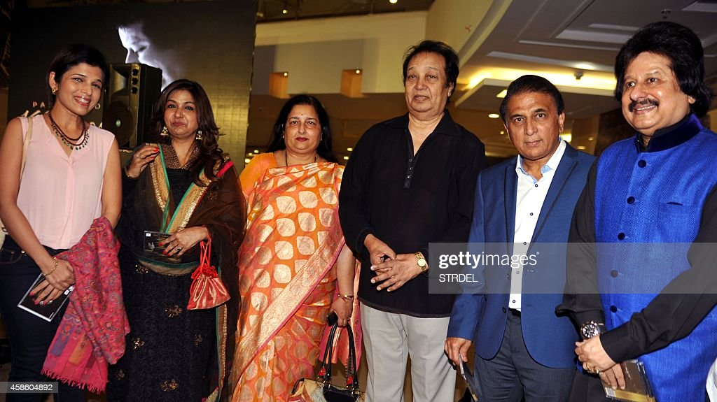 Indian Ghazal maestro Pankaj Udhas poses with