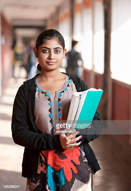 indian girl in the university - indian stock pictures, royalty-free photos & images