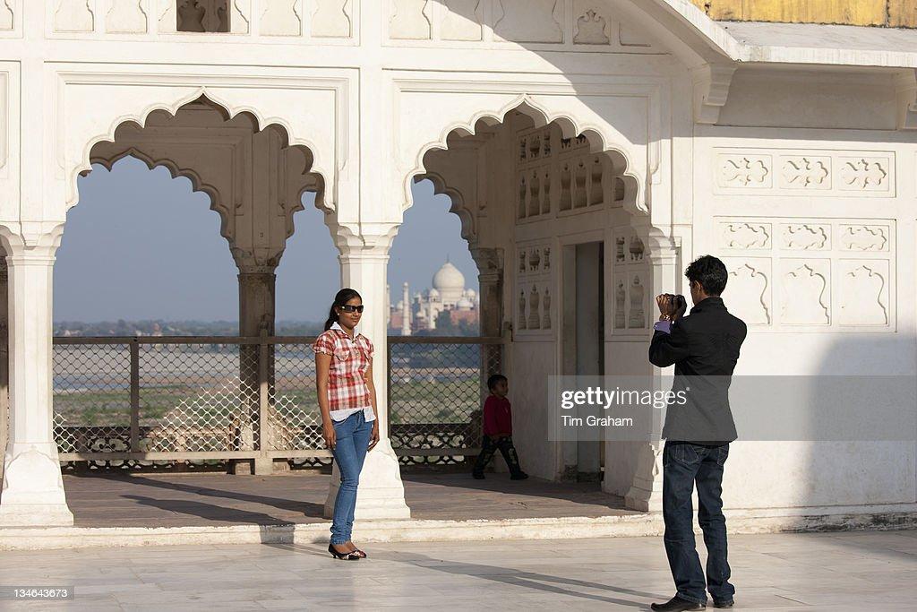 Khas Mahal Palace, Agra Fort, India : News Photo