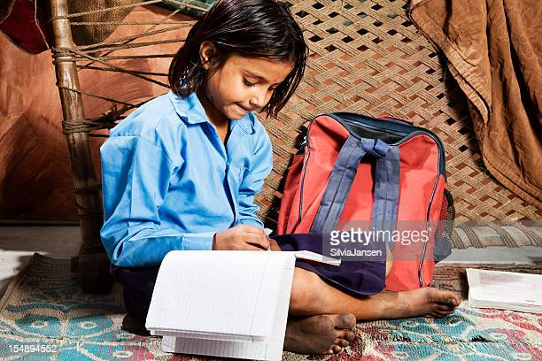 indian girl learning