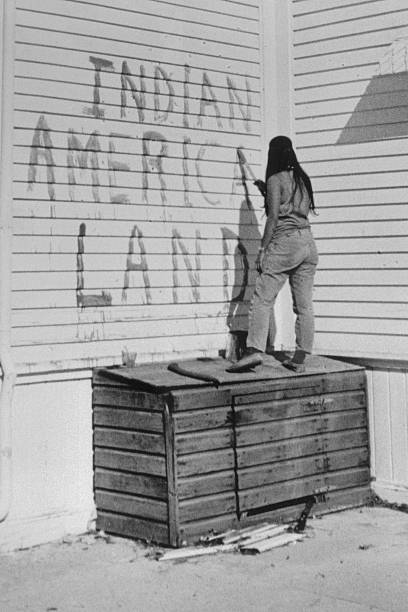 CA: 9th November 1969 - Native Americans Occupy Alcatraz Island
