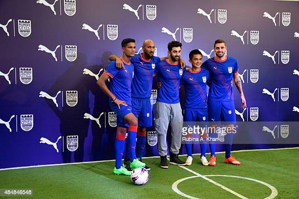 Indian goalie Subrata Paul French footballer Nicolas Anelka Bollywood star and coowner of the Mumbai City FC team Ranbir Kapoor Indian striker Sunil...
