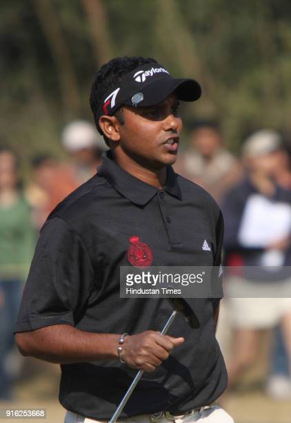 Indian golfer Shiv Shankar Prasad Chawrasia during the final round of the Indian Masters European Tour golf tournament in New Delhi