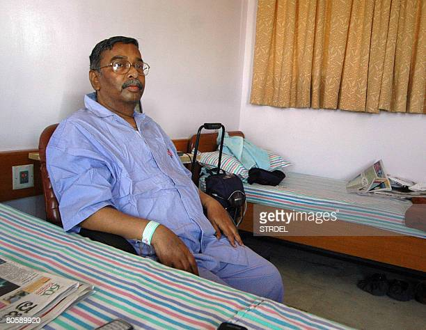 Indian heart patient Venkata Krishnaiah who underwent surgery and the implantation of the Ventricular Assist Device or VAD a battery operated...