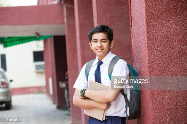 indian high school students - stock image - patio de colegio imagens e fotografias de stock