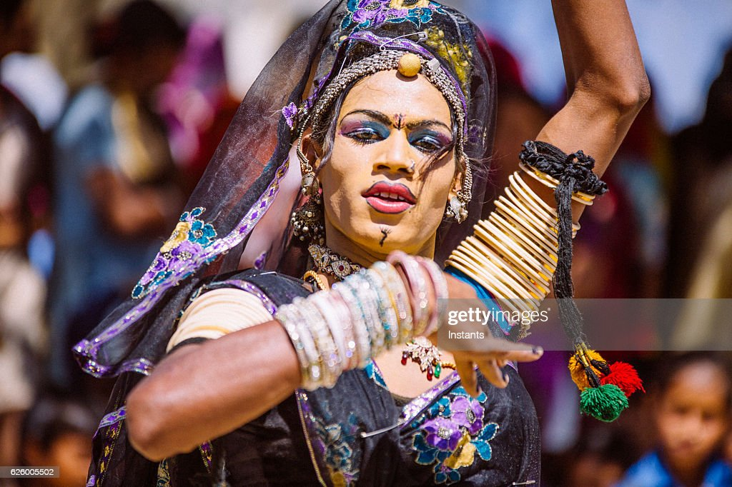 Indian Hijra dancer : Stock Photo